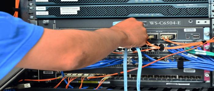 Instalación de sistema para cableado estructurado.